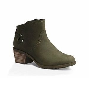 Teva Olive Green Ankle Boots Booties Size 6